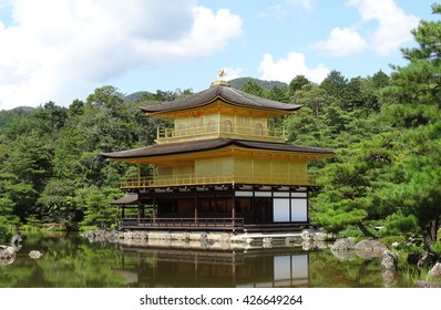 KYOTO, JAPAN - September 11, 2012 : Kinkaku-ji (Temple of the Golden Pavilion) is aZen Buddhist temple located in the UNESCO World Heritage Site Historic Monuments of Ancient Kyoto, Japan.