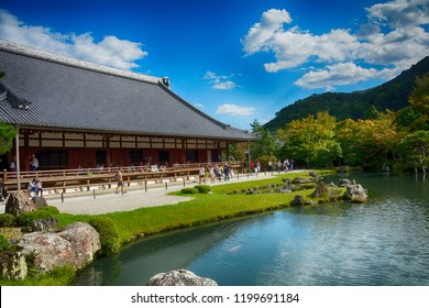 KYOTO, JAPAN - SEPTEMBER 27: Tenryu temple 27 September, 2018 at Kyoto, Japan. Tenryu is the Temple of the Heavenly Dragon.