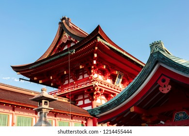 Kyoto, Japan - September 5, 2018: Domestic and foreign tourists are entering Fushimi Inari Shrine in Kyoto. This is the head shrine of Inari in Japan.
