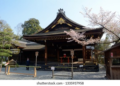 KYOTO, JAPAN - SEPTEMBER 5 : Fushimi Inari on 5 September 2018 at Kyoto, Japan. Fushimi Inari is a famous Shinto shrine.