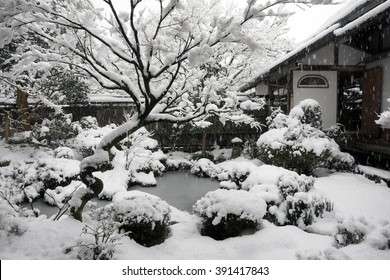 KYOTO, JAPAN-FEB 9: Housen-in,  Garden, Old Temple, Kyoto, Japam, February 9, 2008