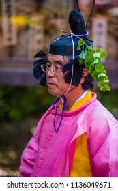 KYOTO - MAY 15 : Participant in Aoi Matsuri in Kyoto, Japan on May 15 2018. Aoi Mastsuri is one of the three main annual festivals held in Kyoto, Japan
