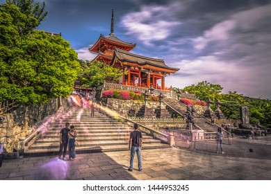 Kyoto - May 29, 2019: The Kiyomizu-Dera temple in Kyoto, Japan