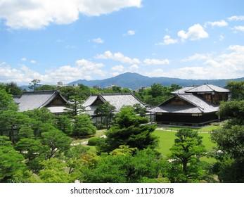 Kyoto Nijo castle gardens and associated buildings of the castle. Nijo�� Castle is a flatland castle located in Kyoto, Japan.
