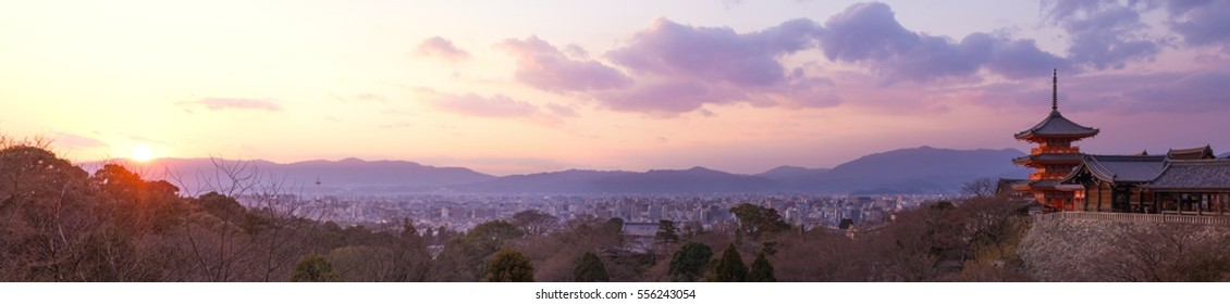 Kyoto Panorama at Sunset