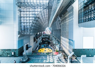Kyoto,Japan - August 21, 2017: Kyoto Station is a railway station and transportation hub in Kyoto, Japan.