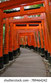 "Kyoto,Japan - November 11, 2017: Fushimi Inari Taisha Shrine, Kyoto Japan  It is located in Fushimi-ku Kyoto Japan, and one of the major tourist spot in Kyoto Japan. It is famous for ""Senbon-torii' ga"