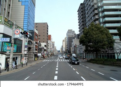 KYOTO,JAPAN-MARCH 22: The landscape of city and street in Kyoto downtown at Kyoto  on Mar 22, 2013 in Kyoto,Japan.
