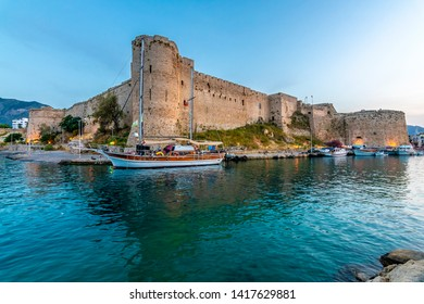 Kyrenia Castle blue hour view in Northern Cyprus