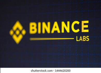 KYRENIA, CYPRUS - JULY 5. 2019: Binance Labs logo displayed on smartphone screen.  Labs is a venture arm of leading cryptocurrency exchange   Binance