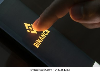 KYRENIA, CYPRUS - JUNE 21, 2019: Binance mobile app running on smartphone. Binance is a global cryptocurrency exchange that provides a platform for trading more than 100 cryptocurrencies.