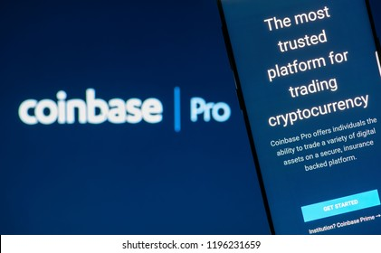 KYRENIA, CYPRUS – OCTOBER 05, 2018: Coinbase website displayed on smartphone screen. Coinbase is a cryptocurrency trading platform