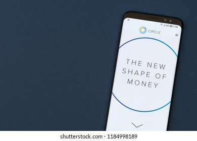 KYRENIA, CYPRUS - SEPTEMBER 17, 2018: Circle Pay website displayed on the smartphne screen. Circle is a mobile payments platform backed by Goldman Sachs