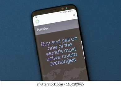 KYRENIA, CYPRUS - SEPTEMBER 17, 2018: Poloniex cryptocurrency exchange logo displayed on Circle Pay website. Circle is a mobile payments platform backed by Goldman Sachs