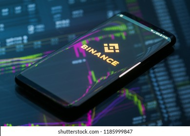 KYRENIA, CYPRUS - SEPTEMBER 21, 2018: Binance mobile app on running on smartphone. Binance is a leading cryptocurrency exchange founded by Changpeng Zhao in august 2017.