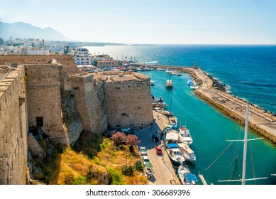 Kyrenia (Girne) Castle, view of Venetian tower. Cyprus