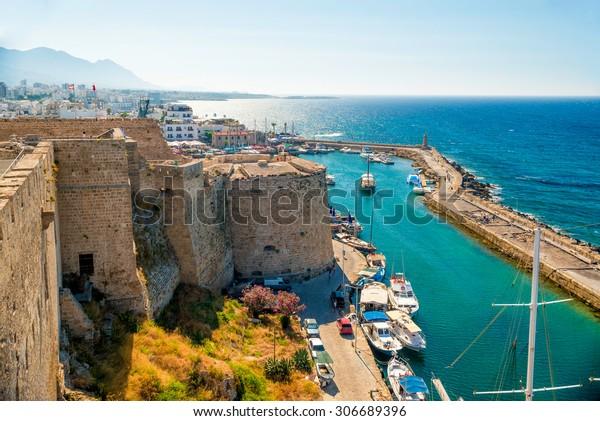 Schloss Kyrenia (Girne), Aussicht auf den venezianischen Turm. Zypern