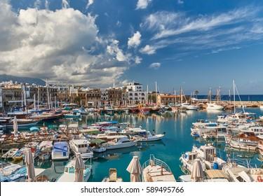 Kyrenia harbour. Kyrenia (Girne), Cyprus.