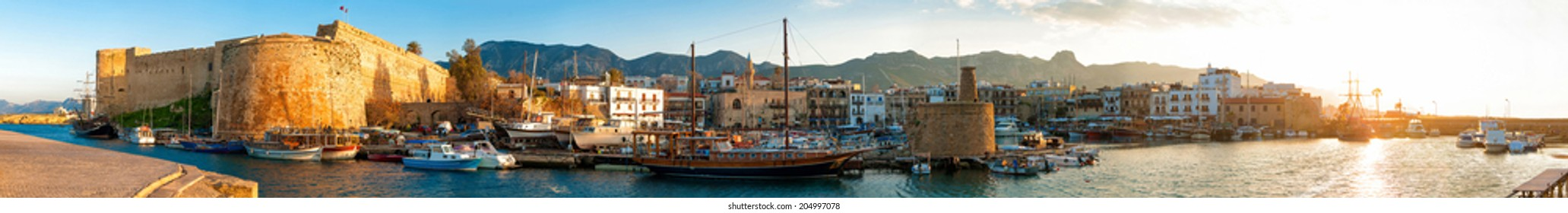 Kyrenia harbour and Medieval castle, Cyprus.