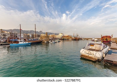 Kyrenia Harbour view.  Krenia Harbour is popular tourist attraction in Northern Cyprus.