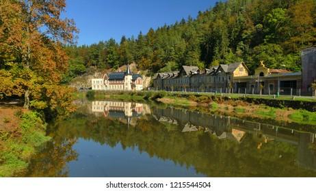 Kyselka spa town - source of famous mineral water Mattoni, Karlovy Vary, Czech Republic