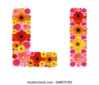 l, flower alphabet