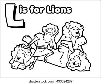 L is for Lion Coloring Activity
