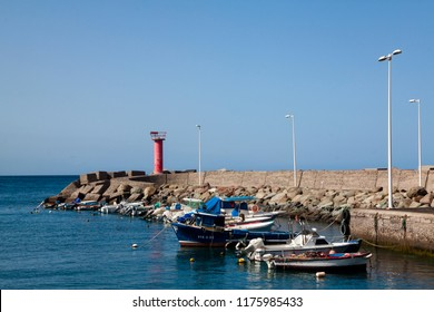 LA ALDEA,GRAN CANARIA - SEPTEMBER 04, 2018 Fishing port on the island of Gran Canaria.