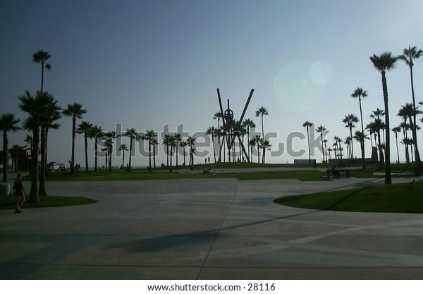 LA beach on a beautiful day