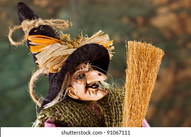 """La """"befana"""", the traditional witch's costume for the epiphany holiday"""