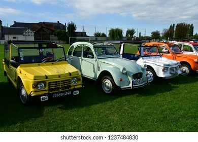 La Bouille; France - september 9 2018 : collection of old Citroen car