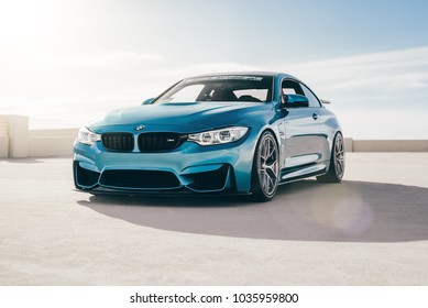 LA, California; February 26, 2018. BMW M4 F82 on the parking lot.