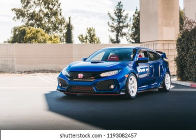 LA, California; October 1, 2018. Honda Type-R at LA street. Editorial photo.