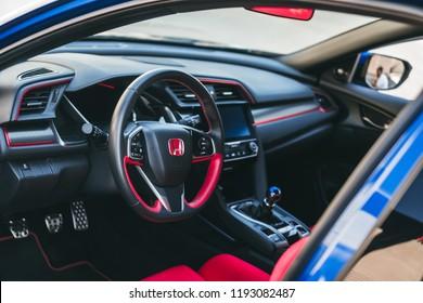 LA, California; October 1, 2018. Honda Type-R at LA street. Editorial photo.