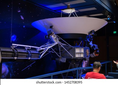 La Canada Flintridge, CA: May 18, 2019: Interior of the Jet Propulsion Laboratory, which is owned by NASA. JPL was formed in 1936.