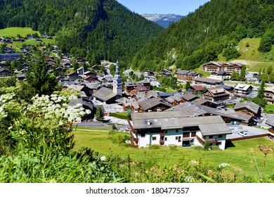 La Clusaz village in the French Alpes