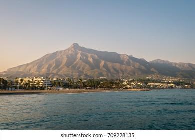 La Concha Mountain in Marbella, Spain