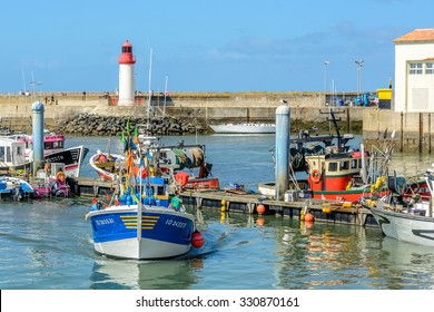La cotiniere, France 4 august 2015:  fishing port on Oleron island, Charente Maritime,  France