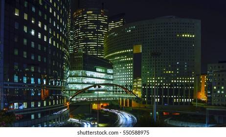La Defense by night - Paris - France