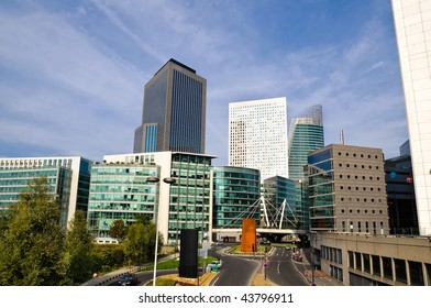 La Defense district in Paris, with business towers