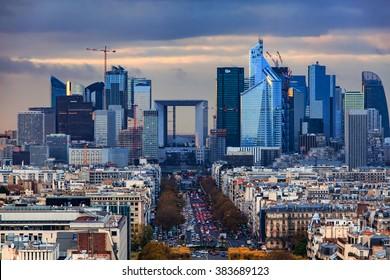 La Defense Financial District Paris France