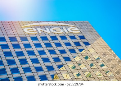 La defense, France - July 17, 2016: Engie tower. Engie is a French compagny electric utility which operates in the fields of electricity generation and distribution, natural gas and renewable energy