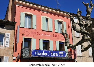 La Garde Freinet, France - april 16 2016 : hotel in the picturesque village in spring
