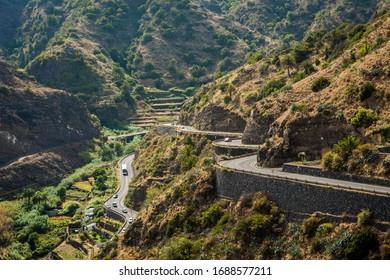 La Gomera, Canary Islands, landscape panoramic