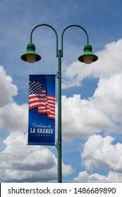 La Grange, Texas - August 23, 2019: Welcome to La Grange Banner. La Grange City is located in Fayette County in Southeastern Texas, United States