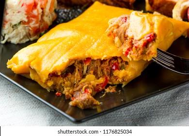 La Hallaca, typical Christmas dish in Venezuela