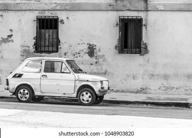 La Havana, Cuba - January 2018: A Cuban Travel