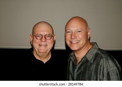 LA JOLLA - APRIL 2 : Director/producer Robert Goodwin (L) and founder Andy Friedenberg at a Cinema Society screening of Alien Trespass in La Jolla, California April 2, 2009.