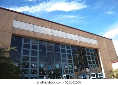 La Jolla, California - December 27th 2015: Birch Aquarium at Scripps