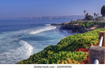 La Jolla coastline in California, just outside of San Diego.